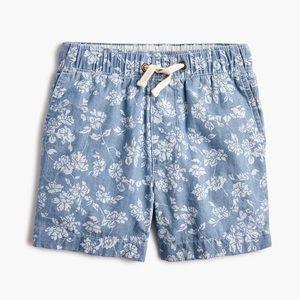 NWT Crewcuts boys floral chambray dock shorts